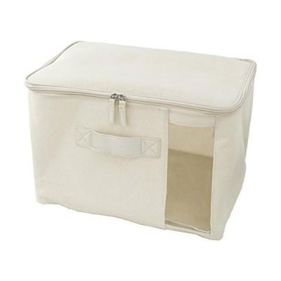 パール金属 ファブリック収納ボックス 衣類収納ケース フタ付き 幅38×奥行26×高さ26cm