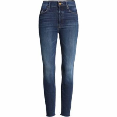 マザー MOTHER レディース ジーンズ・デニム ボトムス・パンツ The Stunner High Waist Distressed Fray Hem Ankle Skinny Jeans Teaming