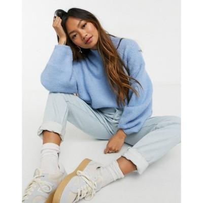 ウィークデイ レディース ニット&セーター アウター Weekday Aino high neck oversize sweater in light blue Blue