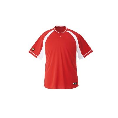 【デサント】 ベースボールシャツ メンズ レッド系 130 DESCENTE