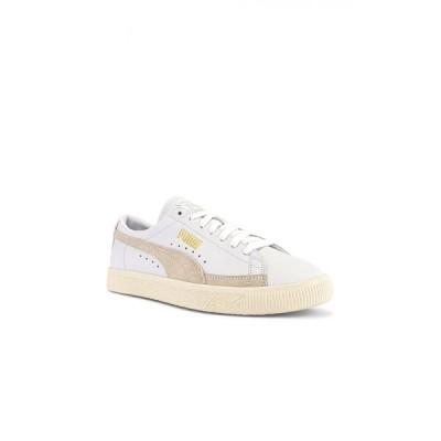 プーマ Puma Select メンズ スニーカー シューズ・靴 basket 90680 lux sneaker Puma White/Whisper White