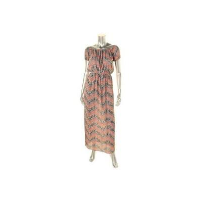 ドレス 女性  アクア アクア 8488 レディース Paisley Off The Shoulder Lined Maxi ドレス