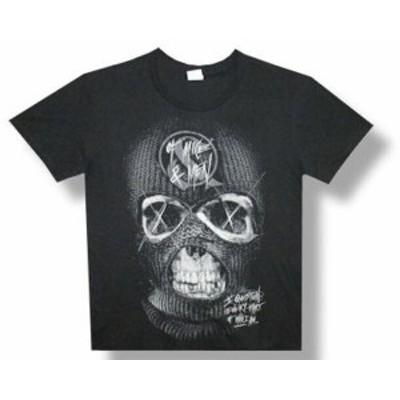 ファッション トップス Of Mice & Men-Ski Mask Skull-Black Lightweight T-shirt