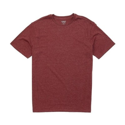 ランドツリーアンドヨーク メンズ Tシャツ トップス Soft Washed Short-Sleeve Solid Crew Neck Tee Wine Heather