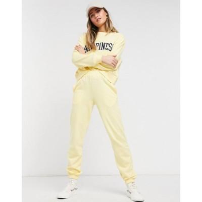 ニュールック New Look レディース ジョガーパンツ ボトムス・パンツ co-ord cuffed jogger in light yellow