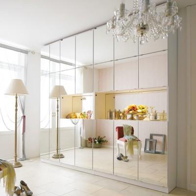 美しく飾れるシューズクローゼット 照明ライト付き下駄箱 幅80cm高さ180cm ホワイト