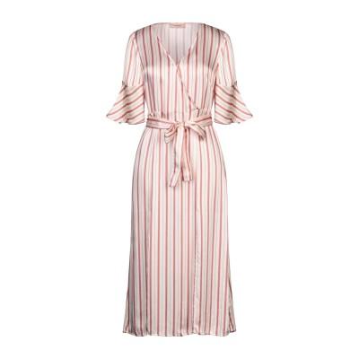 ツインセット シモーナ バルビエリ TWINSET 7分丈ワンピース・ドレス ベージュ 48 レーヨン 100% 7分丈ワンピース・ドレス
