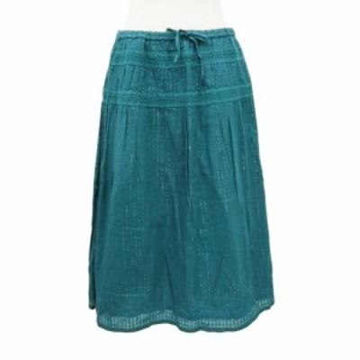 美品 shuca シュカ「L」ラメストライプ 刺繍スカート 095050【中古】