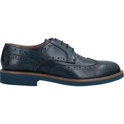 アンジェロ パロッタ ANGELO PALLOTTA メンズ 革靴・ビジネスシューズ シューズ・靴 Laced Shoes Dark blue