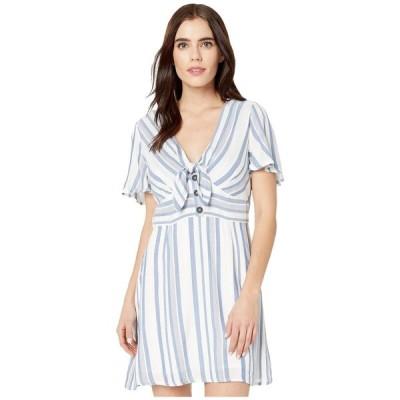 ロストアンドワンダー LOST + WANDER レディース ワンピース ミニ丈 ワンピース・ドレス Laguna Fever Mini Dress Blue/White