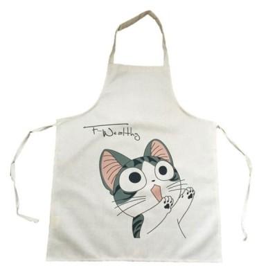 送料無料 エプロン ちょっと待って!! 猫 の キッチンエプロン ガーデニング ねこ ネコ