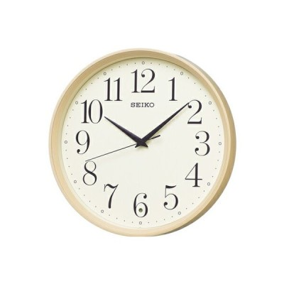 壁掛け時計 電波時計 アナログ 掛け時計 薄茶 おしゃれな 木目調デザイン 見やすい アラビア数字 セイコー 秒針の音がしない 連続秒針 静かな 電波掛け時計