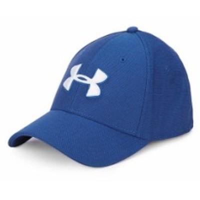 アンダーアーマー レディース 帽子 アクセサリー Heathered Blitzing 3.0 Cap American Blue