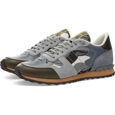 ヴァレンティノ Valentino メンズ スニーカー シューズ・靴 rockrunner sneaker Grey