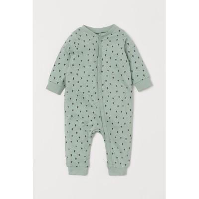 H&M - コットンジャージーパジャマ - グリーン