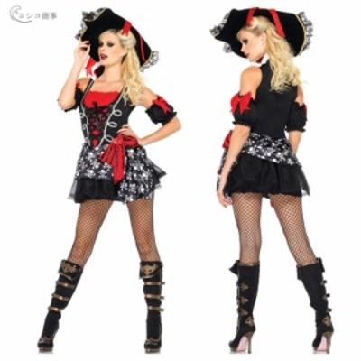 ハロウィン キャラクター Halloween 仮装 女海賊 コスチューム レディース コスプレ衣装 イベント パイレーツ 万聖節 大人 パーティー