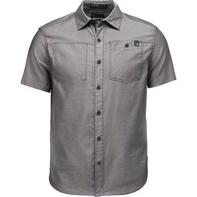 ブラックダイヤモンド シャツ メンズ トップス Black Diamond Men's Solution SS Shirt Black / Ash