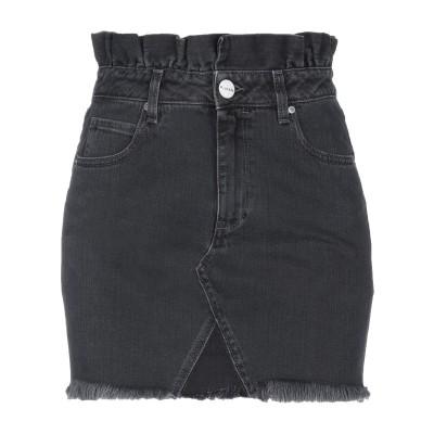 P_JEAN デニムスカート ブラック 29 コットン 100% デニムスカート