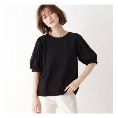 【シューラルー/SHOO・LA・RUE】 ひんやり袖ギャザーTシャツ