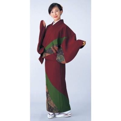 二部式着物 レディース キルト 袷 セパレート 2部式 着物 旅館 ユニフォーム 洗える着物 唐草