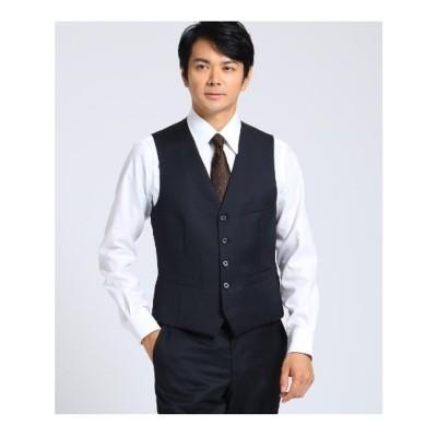 タケオ キクチ TAKEO KIKUCHI 【J∞QUALITY】サージベスト Fabric by MIYUKI KEORI (ダークネイビー)