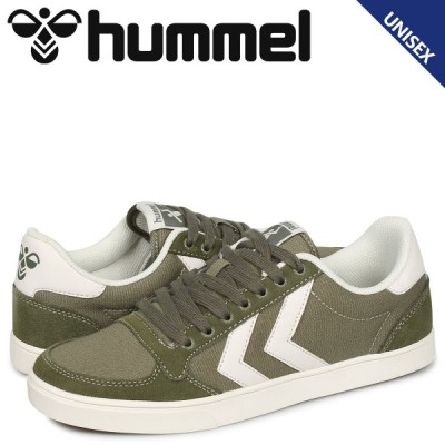 ヒュンメル hummel スリマー スタディール キャンバス ロー スニーカー メンズ SLIMMER STADIL CANVAS LOW グリーン HM205900-6027