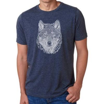 エルエーポップアート メンズ Tシャツ トップス Premium Blend Word Art T-Shirt - Wolf