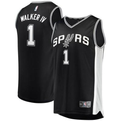 ファナティクス ブランデッド メンズ Tシャツ トップス Lonnie Walker San Antonio Spurs Fanatics Branded Fast Break Replica Jersey