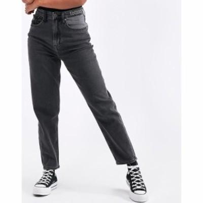 トミー ジーンズ Tommy Jeans レディース ジーンズ・デニム ボトムス・パンツ High Rise Tapered Jean Mix Black