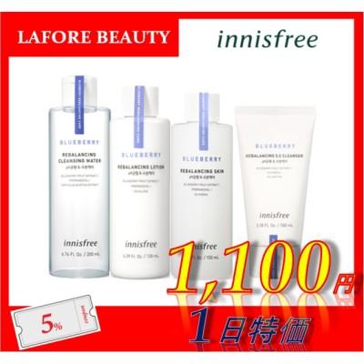[Innisfree] Blueberry Rebalancing Lotion 130ml/Skin 150ml/Cleansing Water 200ml/Cleanser 100ml