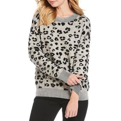 ギブソンアンドラティマー レディース パーカー・スウェット アウター Leopard Print Jacquard Sweater