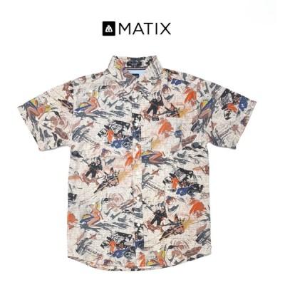 MATIX マティックス メンズ シャツ チェック ギンガムチェック ストリート カジュアル 半袖 スケボー スノボー サーファー大きめ