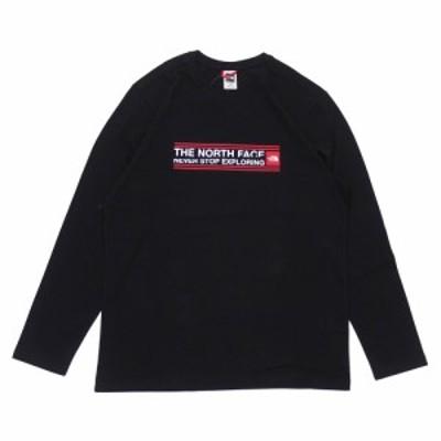 新品 ザ・ノースフェイス THE NORTH FACE Slice Pack L/S Tee ロンティー 長袖Tシャツ BLACK ブラック 黒 TOPS