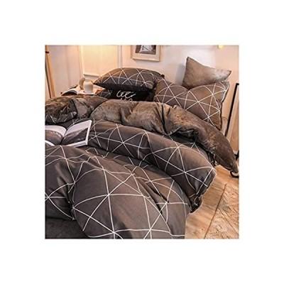 特別価格NYKK Sheets and Pillowcases Flannel Bedding Set of 4 Double-Sided Design Su好評販売中
