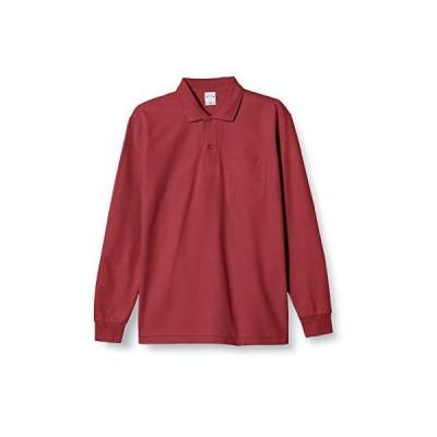 [プリントスター] 5.8オンス TC 鹿の子 長袖 ポロシャツ [ポケット付] 00169-VLP メンズ バーガンディ L