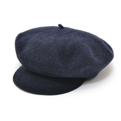 Le Beret Francais ル ベレー フランセ キャスケット ベレー帽 帽子 サイズ56cm 毛100% メンズ ネイビー ブルー