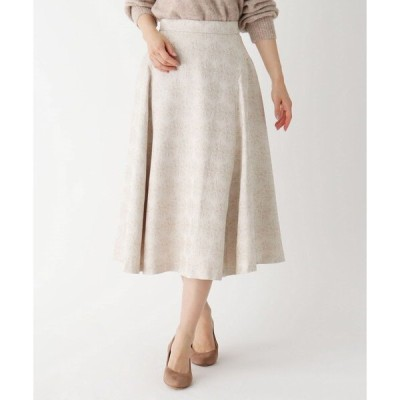 スカート 【大きいサイズあり・13号】シャイニージャカードフレアスカート