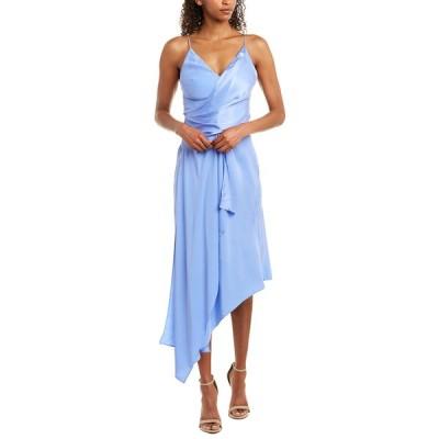 エイサー ワンピース トップス レディース Acler Lucas Silk Midi Dress empire blue