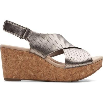 クラークス Clarks レディース サンダル・ミュール シューズ・靴 'S Casual Annadel Parker Metallic Textile Sandals