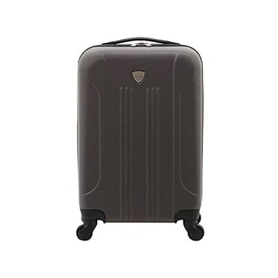 """Travelers Club 20"""" Chicago Expandable Spinner Carry-On Luggage, Charcoal"""
