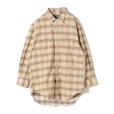 SHIPS for women / シップスウィメン GITMAN:コーデュロイビッグチェックシャツ