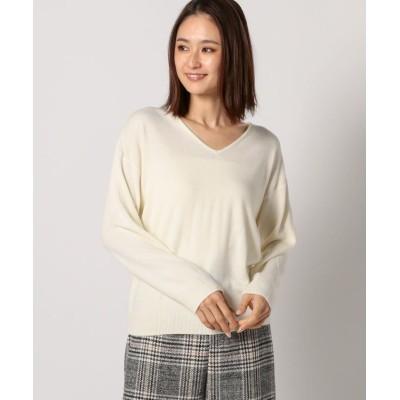 【ミューズ リファインド クローズ】 Vネックオフショルニット レディース アイボリー M MEW'S REFINED CLOTHES
