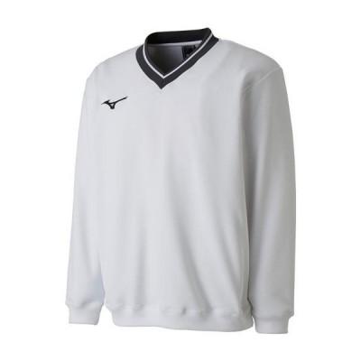 【送料290円】ミズノ スウェットシャツ(中厚) ホワイト Mizuno 62JC8001 01
