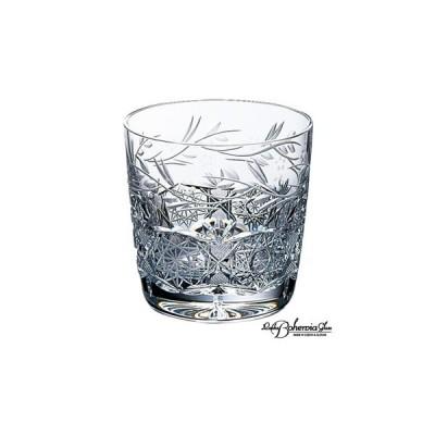ウイスキー水割りロックグラス  ボヘミアクリスタルガラス  オールドファッション トラディショナル ジェリーズ・ガーデン 容量280ml