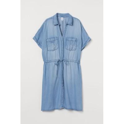 H&M - リヨセルシャツドレス - ブルー