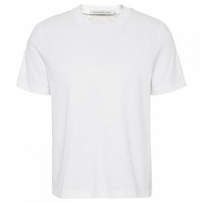 カルバンクライン Calvin Klein Jeans レディース Tシャツ トップス Tape Logo T Shirt Bright White