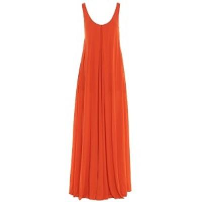 GABRIELA HEARST/ガブリエラハースト Orange Ophelia' long dress レディース 春夏2021 221452S048TONIC ju