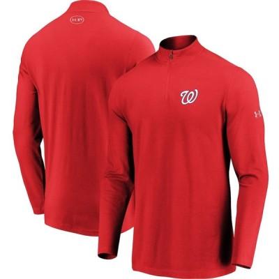 ワシントン・ナショナルズ Under Armour Passion Performance Tri-Blend Quarter-Zip Pullover ジャケット - Red
