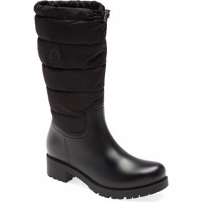 モンクレール MONCLER レディース レインシューズ・長靴 シューズ・靴 Ginette Tall Waterproof Rain Boot Black