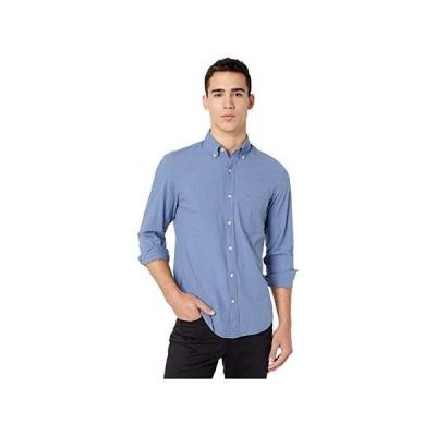 J.Crew Slim Stretch Secret Wash Shirt in Heathered Organic Cotton メンズ シャツ トップス Heather Royal